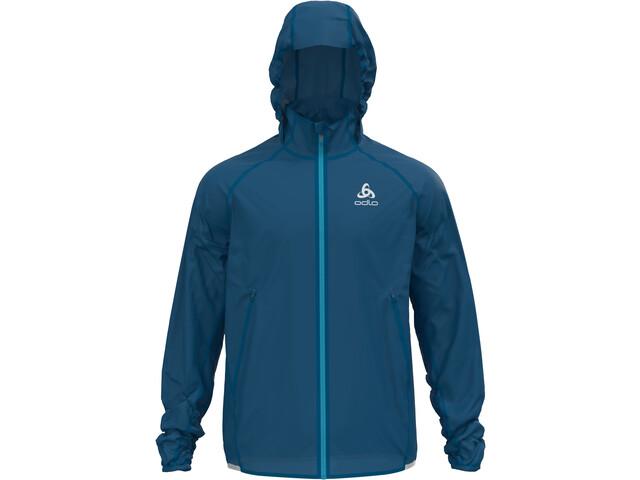 Odlo Zeroweight Dual Dry Water Resist Jacket Men mykonos blue